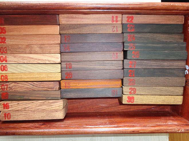 在总结以往木材识别经验基础上,应对现有市场上流通的红木商品材进行