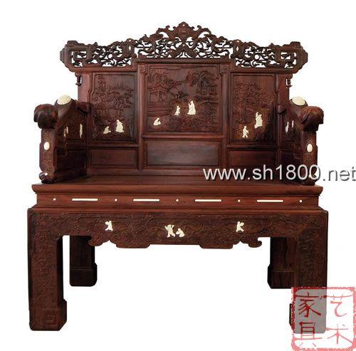 桑马红木 家具——清式紫檀木大宝座