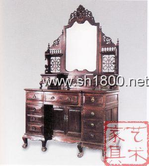 红木单屏梳妆台