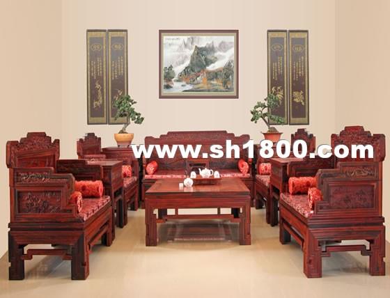 仓艺红木锦绣河山大客厅沙发